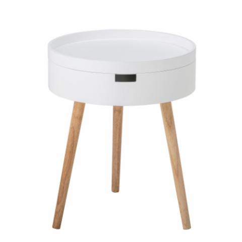 Tapa Sidetable, White, Pine