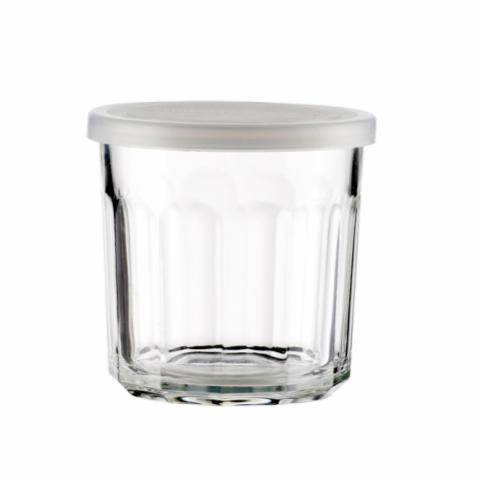 Tessa Glass w/Lid, Clear, Glass