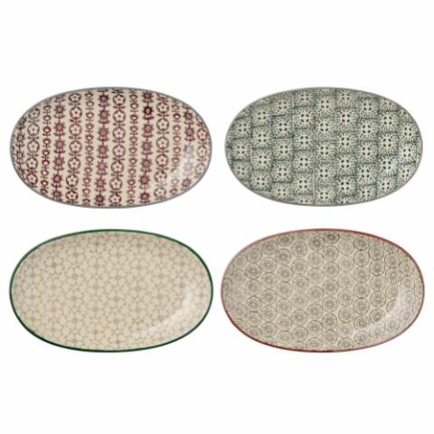 Karine Plate, Multi-color, Stoneware