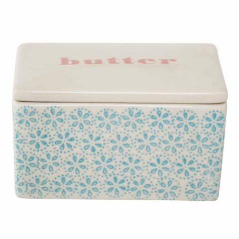 Patrizia Butter Box, Blue, Stoneware