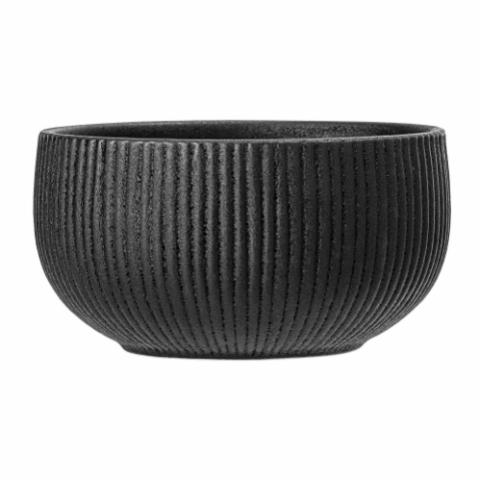 Neri Bowl, Black, Stoneware