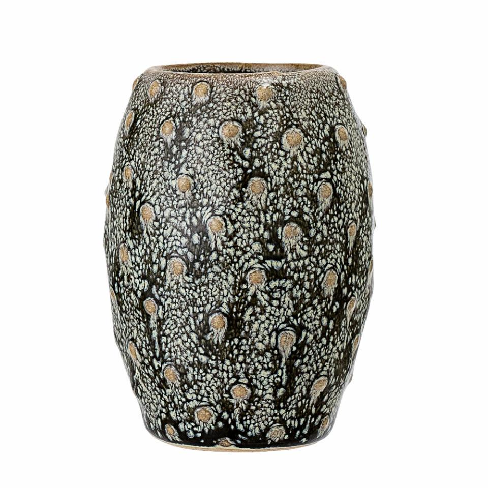 Miras Vase, Green, Stoneware