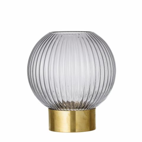 Bana Vase, Grey, Glass