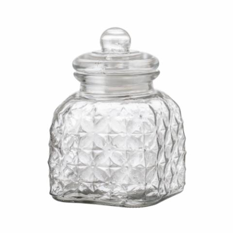 Muss Jar w/Lid, Clear, Glass