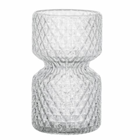 Heba Vase, Clear, Glass