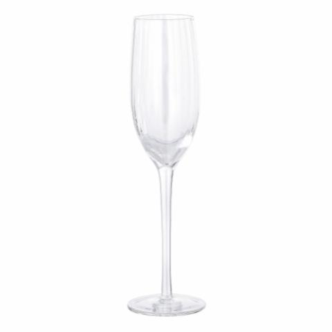 Astrid Champagne Glass, Clear, Glass