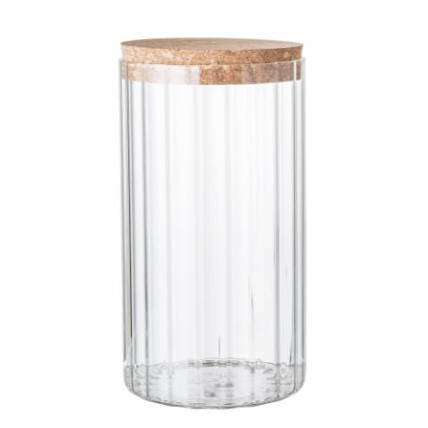 Roan Jar w/Lid, Clear, Glass