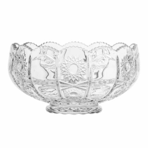 Sif Punch Bowl, Clear, Glass