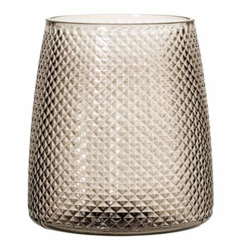 Lida Votive, Grey, Glass
