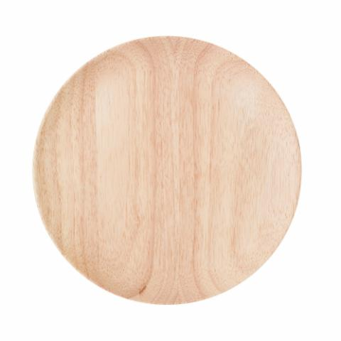 Nolia Plate, Nature, Rubberwood
