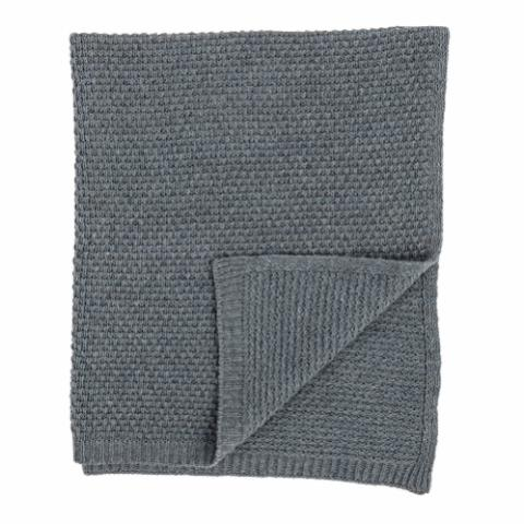 Karenlene Throw, Blue, Wool