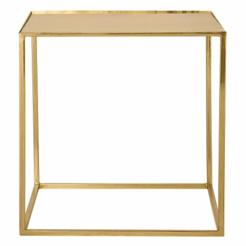 Cube Coffee Table, Gold, Metal