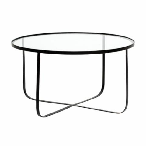 Harper Coffee Table, Black, Glass