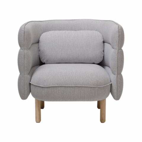 Ellen Lounge Chair, Grey, Polyester