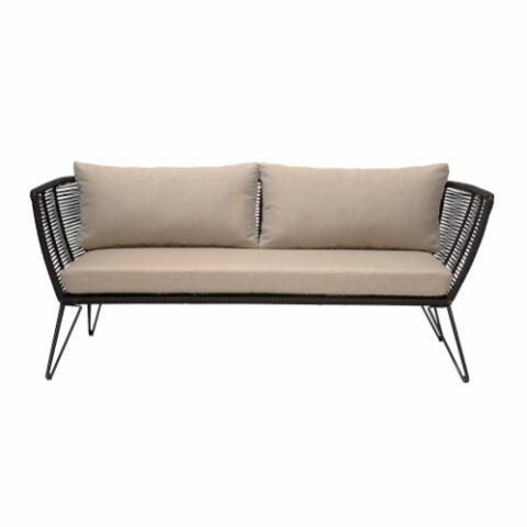 Mundo Sofa, Black, Metal