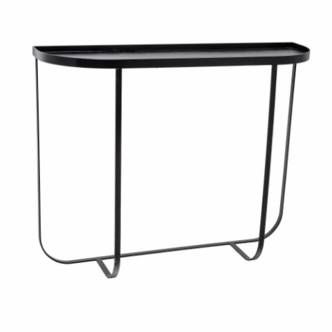 Harper Console Table, Black, Metal