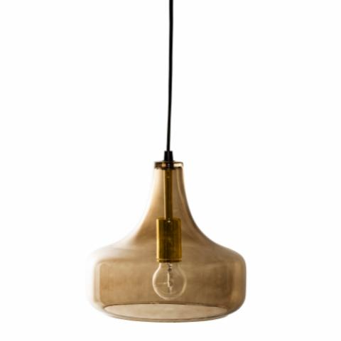Yuser Pendant Lamp, Brown, Glass