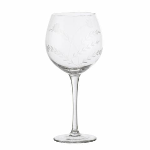 Saga Wine Glass, Clear, Glass