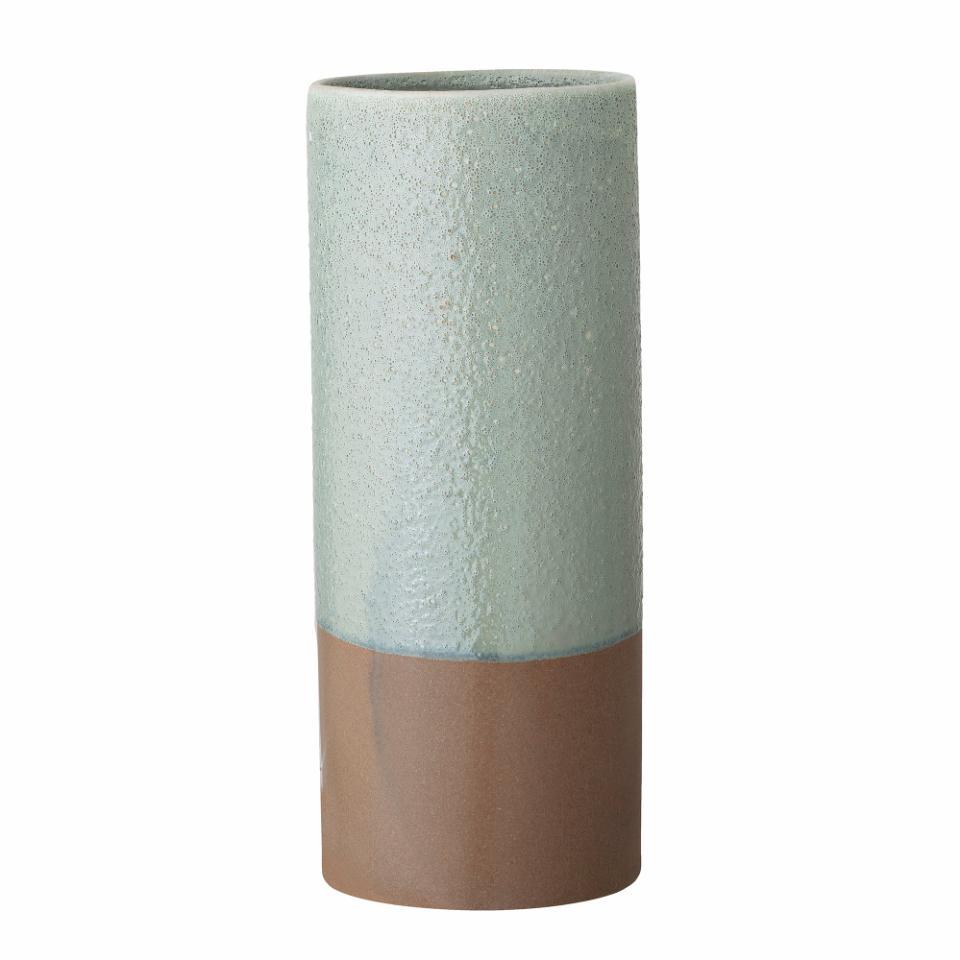 Charlene Vase, Green, Stoneware