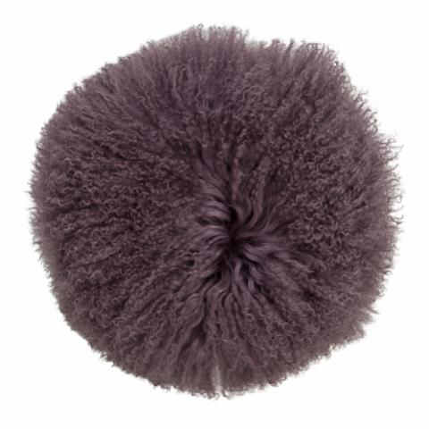 Dogan Cushion, Purple, Lambskin Mongolian