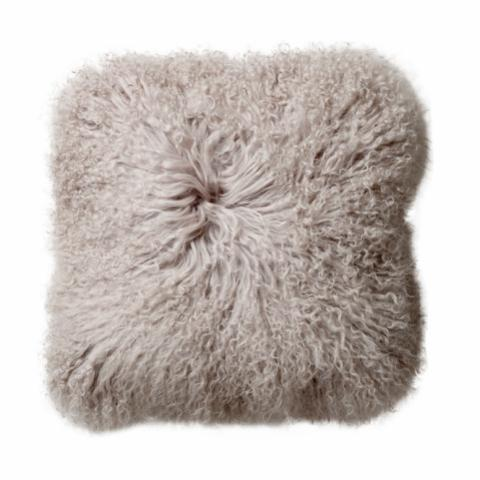 Farina Cushion, Nature, Lambskin Mongolian