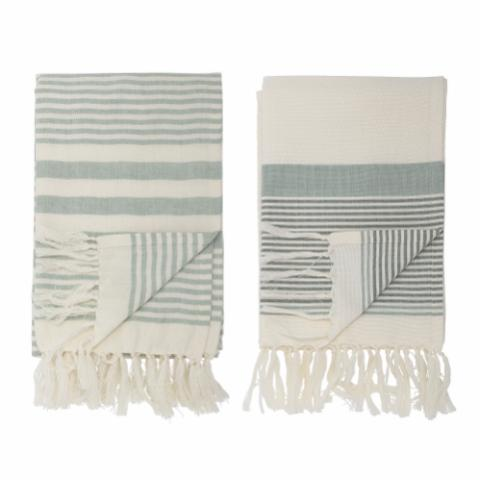 Loke Towel, Green, Cotton