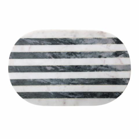 Rosario Cutting Board, White, Marble
