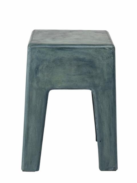 Ravi Stool, Green, Concrete