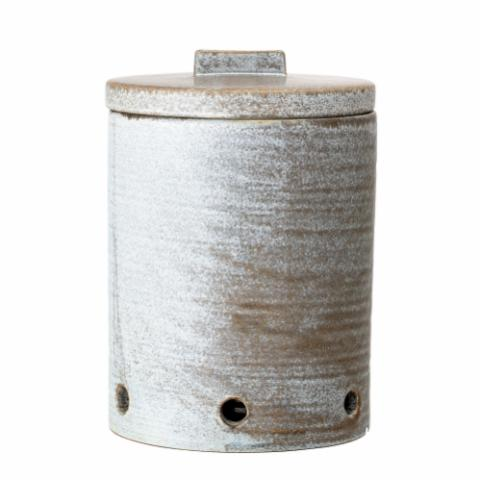 Kendra Onion Jar, Grey, Stoneware
