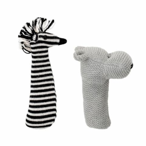 Martina Rattle, Grey, Cotton