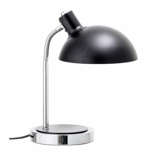 Stalia Table lamp, Black, Metal