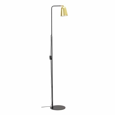 Vanessa Floor Lamp, Black, Metal