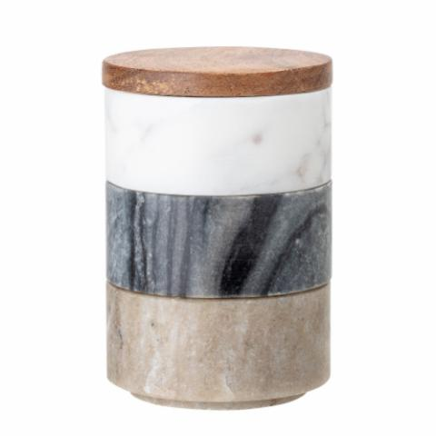 Mael Jar w/Lid, Multi-color, Marble