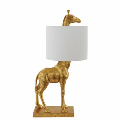 Silas Table lamp, Gold, Polyresin