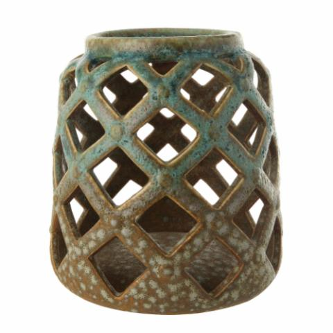 Morgan Votive, Green, Stoneware