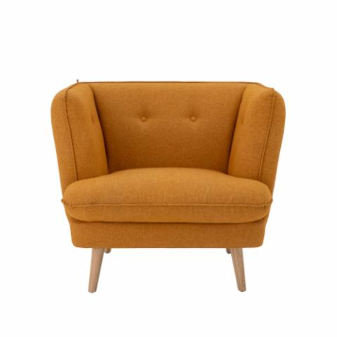 Elliot Lounge Chair, Orange, Polyester