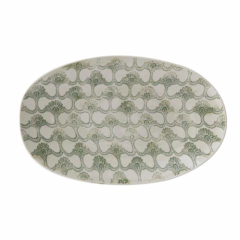 Viola Serving Plate, Green, Stoneware