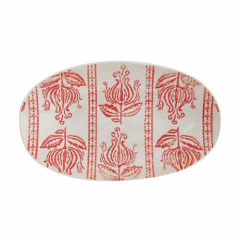 Viola Serving Plate, Red, Stoneware