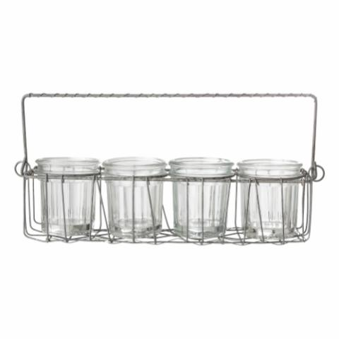 Genta Jar, Clear, Glass
