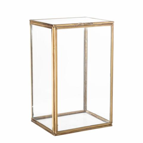 Semsa Display box, Brass, Glass