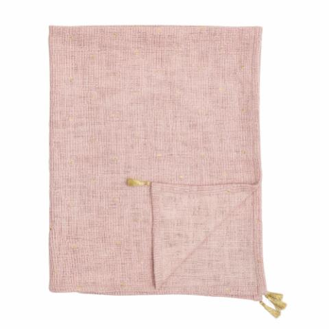 Balder Throw, Rose, Cotton