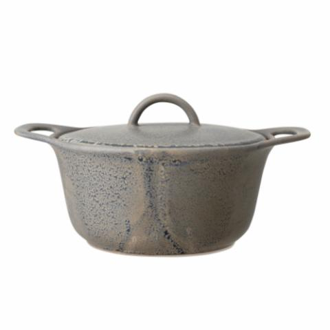 Kendra Serving Pot w/Lid, Grey, Stoneware