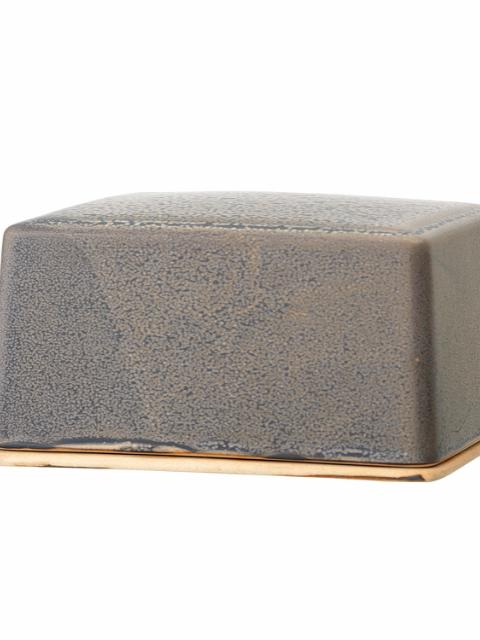 Kendra Butter Box, Grey, Stoneware