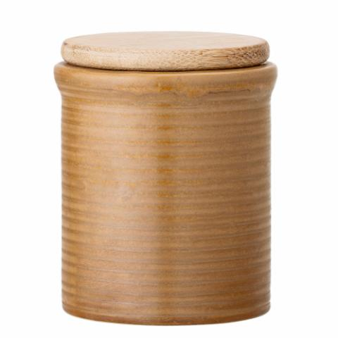 Jar w/Lid, Brown, Stoneware