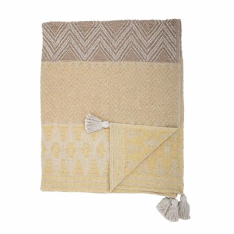 Nome Throw, Yellow, Recycled Cotton