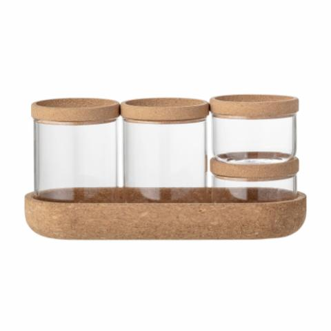 Orkun Jar w/Lid, Clear, Glass