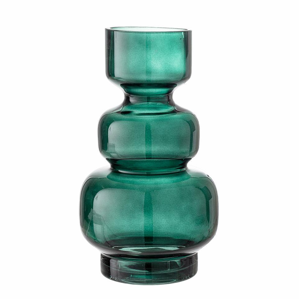 Johnson Vase, Green, Glass