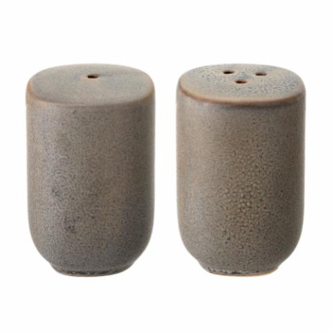 Kendra Salt & Pepper Shaker, Grey, Stoneware