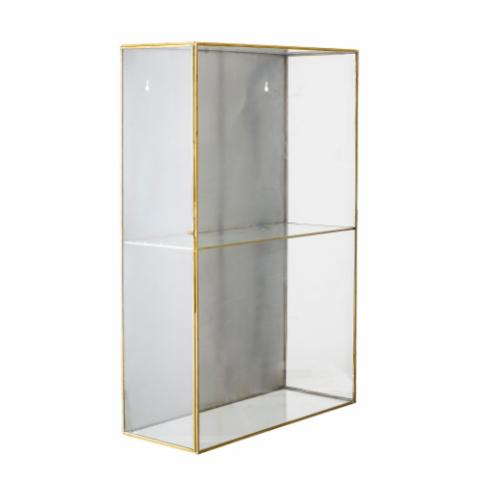 Lia Cabinet, Gold, Glass