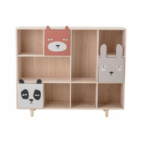 Calle Bookcase w/Drawers, Grey, Paulownia